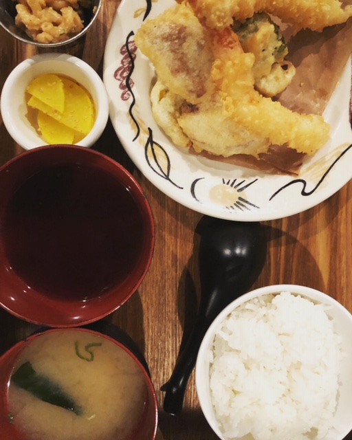Tempura lunch set
